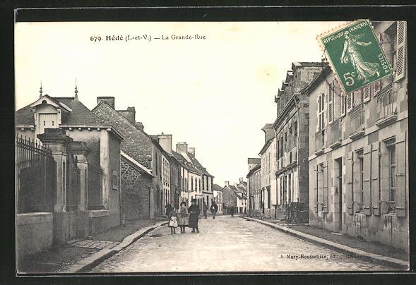 AK Hédé, La Grande-Rue 0