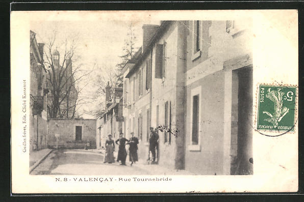 AK Vallencay, Rue Tournebride, Strassenpartie 0