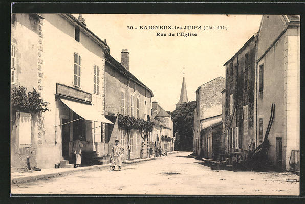 AK Baigneux-les-Juifs, Rue de l'Eglise 0