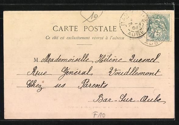 AK Arcis-sur-Aube, Rue des Anciens Fossés et Rue de Paris 1