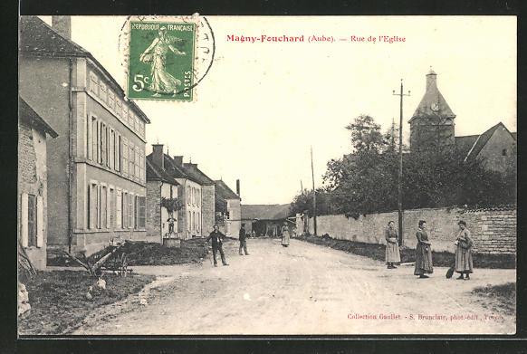 AK Magny-Fouchard, Rue de l'Eglise 0