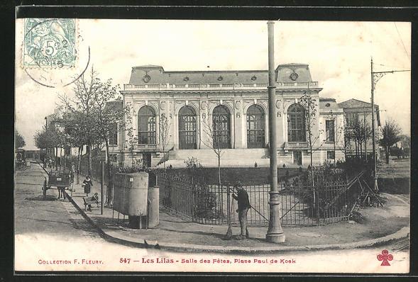 AK Les Lilas, Salle des Fetes, Place Paul de Kosk 0