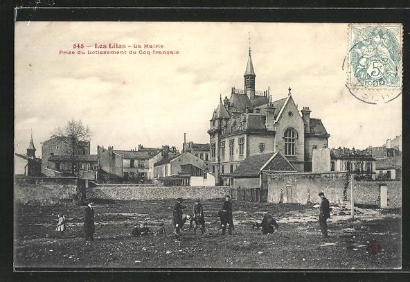 AK Les Lilas, La Mairie prise du Lotissement du Coq francais 0