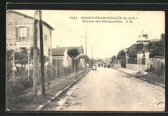 AK Gagny-Franceville, Avenue des Marguerites 0