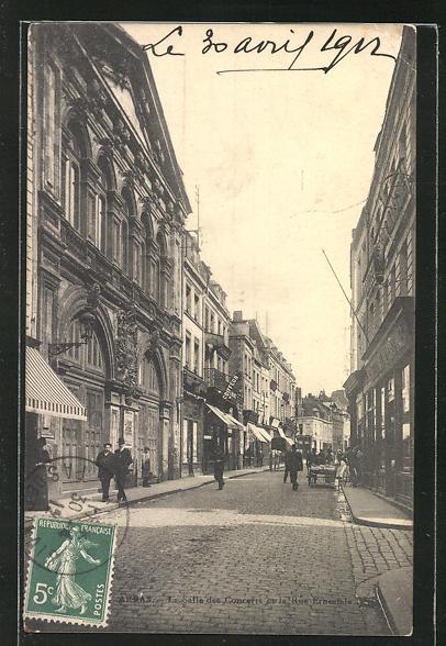 AK Arras, La Salle des Concerts et la Rue Ernestals 0