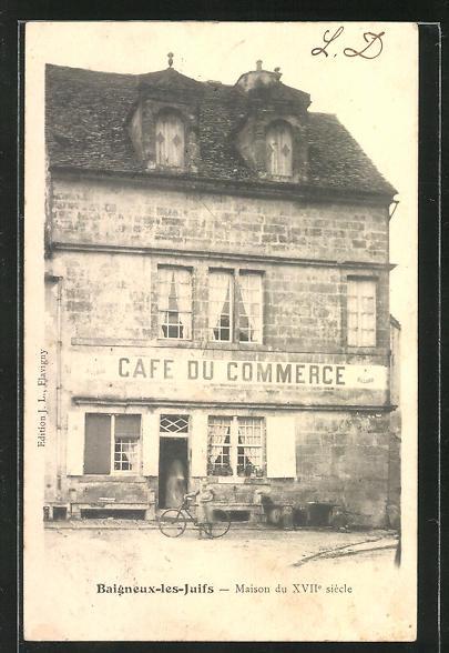AK Baigneux-les-Juifs, Cafe du Commerce 0