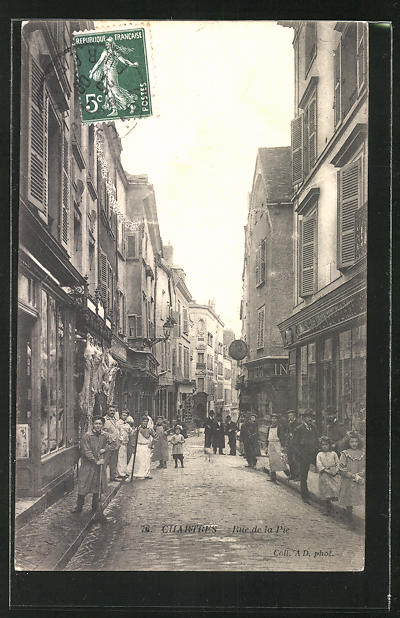 AK Chartres, Rue de la Pie, Strassenpartie 0