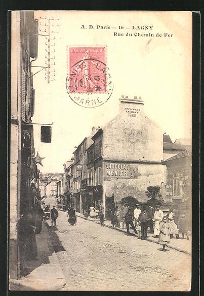 AK Lagny, Rue du Chemin de Fer 0