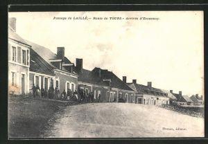AK Laillé, Route de Tours, Strassenpartie