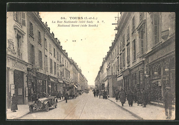 AK Tours, La Rue Nationale, Strassenpartie 0