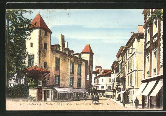 AK Saint-Jean-de-Luz, Entrée de la Ville, Strassenpartie 0