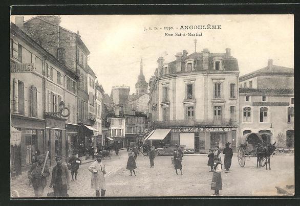 AK Angouleme, Rue Saint-Martial 0