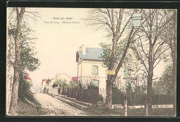 AK Arcis-sur-Aube, Rue du Coq, Maison Clivot