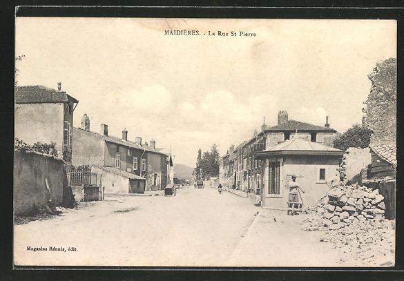 AK Maidières, La Rue St-Pierre