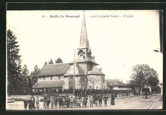 AK Heiltz-le-Maurupt, L' Église avant la grande Guerre