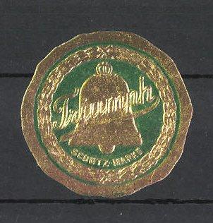Reklamemarke Triumph, Logo mit goldener Glocke
