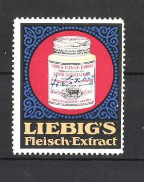 Reklamemarke Liebig's Fleisch-Extract, Dose