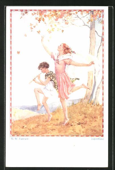 Künstler-AK sign. M. W. Tarrant: Jugendlust, Kinder