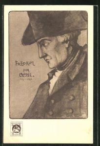 AK Portrait König Friedrich der Grosse als junger Mann mit Hut