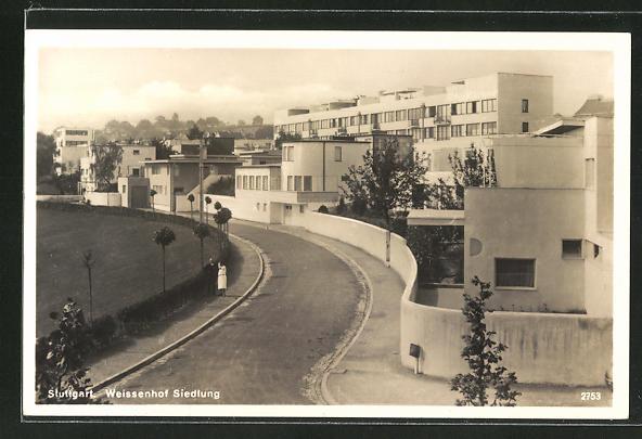 AK Stuttgart, Weissenhof Siedlung, Architektur, Bauhaus