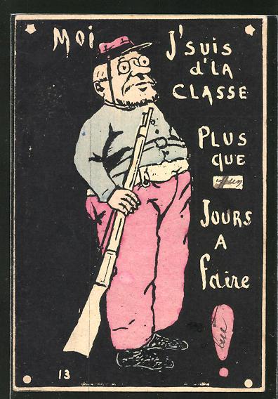AK Französischer Soldat in Uniform