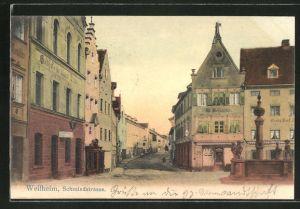 AK Weilheim, Blick in die Schmiedstrasse
