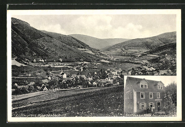 AK Heddesbach, Gasthaus zur Krone, Totalansicht