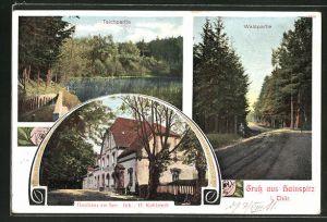 AK Hainspitz i. Thür., Gasthaus am See von H. Kohlstedt