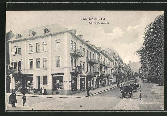 AK Bad Nauheim, Partie in der oberen Parkstrasse