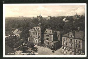 AK Stollberg i. Erzgeb., Rathaus und Oberschule