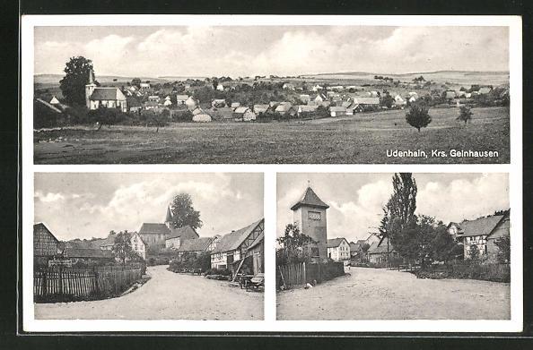 AK Udenhain /Krs. Geinhausen, Gesamtansicht, Ortspartie, Strassenpartie