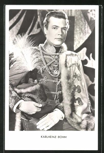 AK Schauspieler Karlheinz Böhm im Kostüm seiner Filmrolle