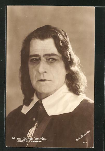 AK Schauspieler M. de Gondi im Kostüm seiner Filmrolle
