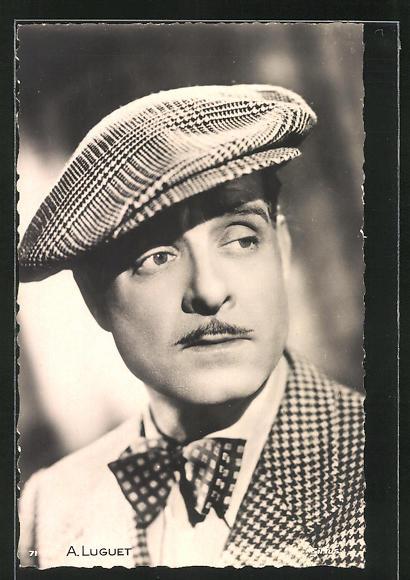 AK Schauspieler André Luguet im Kostüm seiner Filmrolle