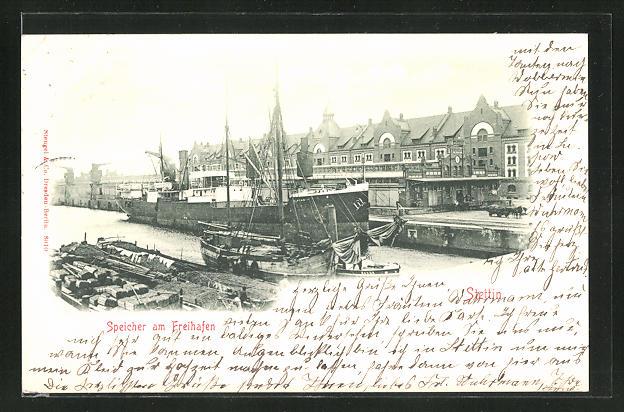 AK Stettin, Speicher am Freihafen