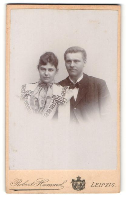 Fotografie Robert Hummel, Leipzig, Portrait junges bürgerliches Paar