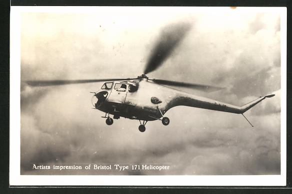 AK Artists impression of Bristol Type 171 Helicopter