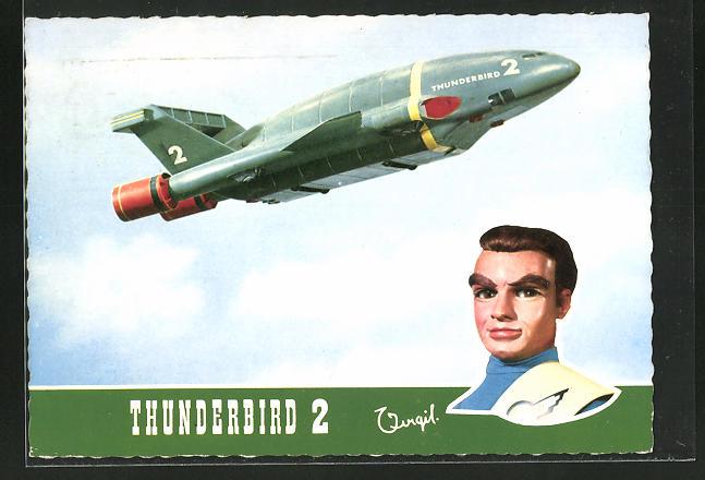 AK Thunderbirds are Go, Thunderbid 2 und Pilot Virgil Tracy, Fernsehserie, Marionette, Puppe