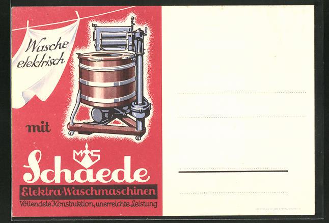 AK Wasche elektrisch mit Schaede Elektra-Waschmaschinen