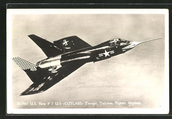 AK Kampfflugzeug Chance Vought F7U3 Cutlass der US Air Force