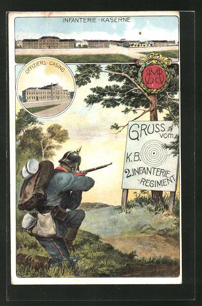 AK 2. Infanterie-Regiment, Infanterie-Kaserne, Offiziers-Casino