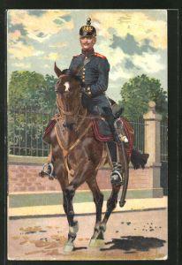 Künstler-AK Anton Hoffmann - München: Soldat der Würtembergischen Feld-Artillerie zu Pferd
