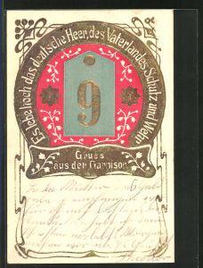 Präge-AK Regiment Nr. 9: