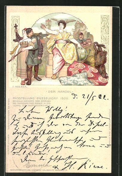 Lithographie Düsseldorf, Ausstellung 1902, Darstellung