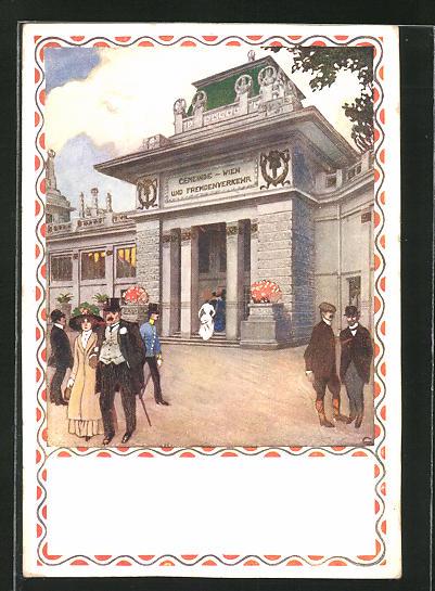 AK Wien, Internationale Jagd-Ausstellung 1910, Pavillon für Fremdenverkehr