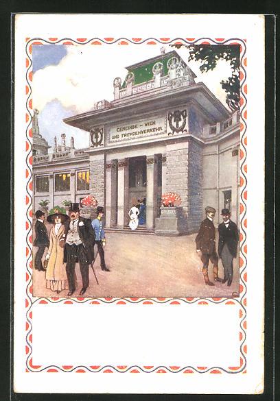 AK Wien, Erste Internationale Jagd-Ausstellung 1910, Pavillon Wien und Fremdenverkehr