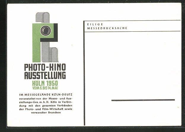 AK Köln-Deutz, Photo-Kino Ausstellung 1950, Messegelände