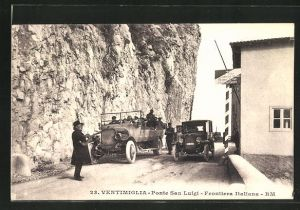 AK Ventimiglia, Ponte San Luigi - Frontiera Italiana, Grenze