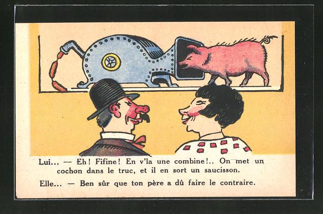 AK Schwein geht in den Fleischwolf, Scherz