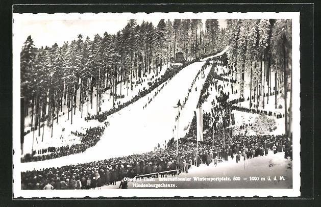 AK Hindenburgschanze auf dem Internationalen Wintersportplatz Oberhof